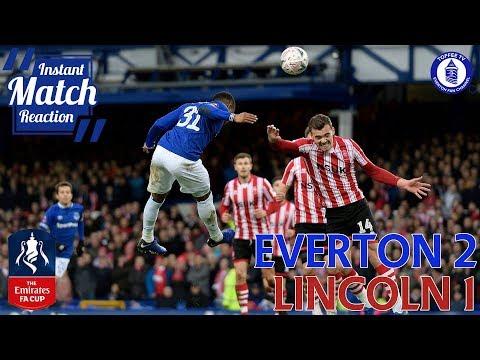 Everton 2-1 Lincoln City | Gwladys Street Reaction