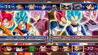 Goku Forms and Version VS Vegeta Forms and Version - Dragon Ball Z Budokai Tenkaichi 3