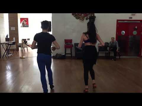 Fedrico y Linda salsa footwork on2 wih music @ Tangier dance festival 2018