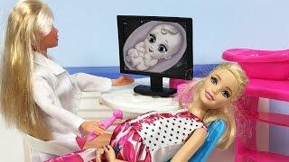 Barbie ve Ailesi Bölüm 104 - Can ve Ceren YENİ Kardeşiyle Tanışıyor - Çizgi film Barbie oyunları