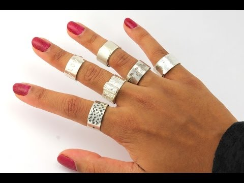 How to Make A Silver Ring DIY Jewelry Tutorial Trailer