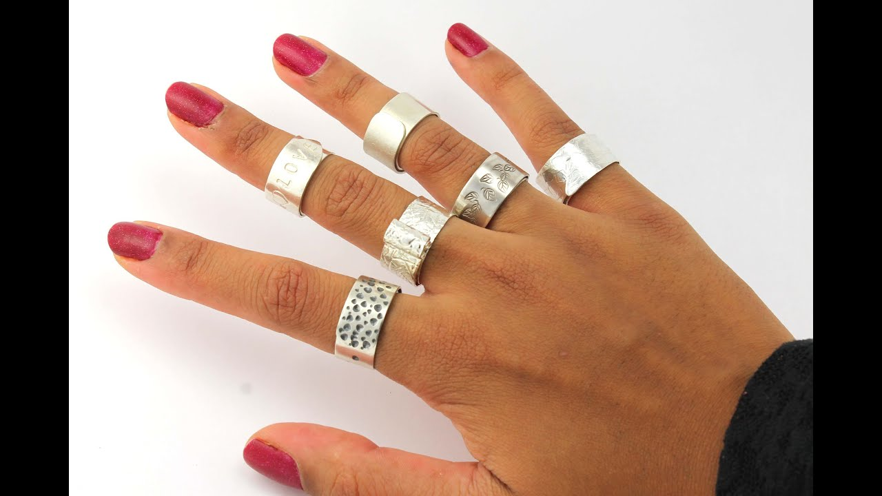 How to Make A Silver Ring DIY Jewelry Tutorial Trailer - YouTube