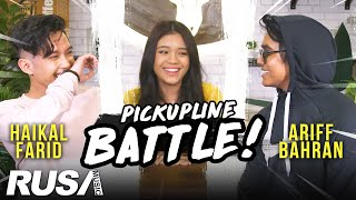 ARIFF BAHRAN VS HAIKAL FARID - Pickupline Battle!