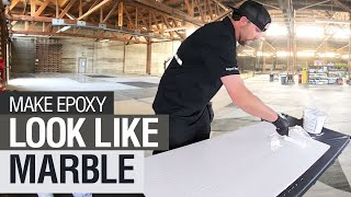 Use Epoxy To Give Your Countertops A Marble Look!
