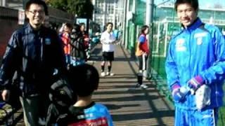 虎の仮面を断る安藤選手[後援会フットサルエンジョイリーグ]