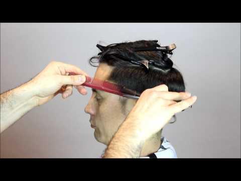 How to cut men's scissor over comb Technique Full Tutorial