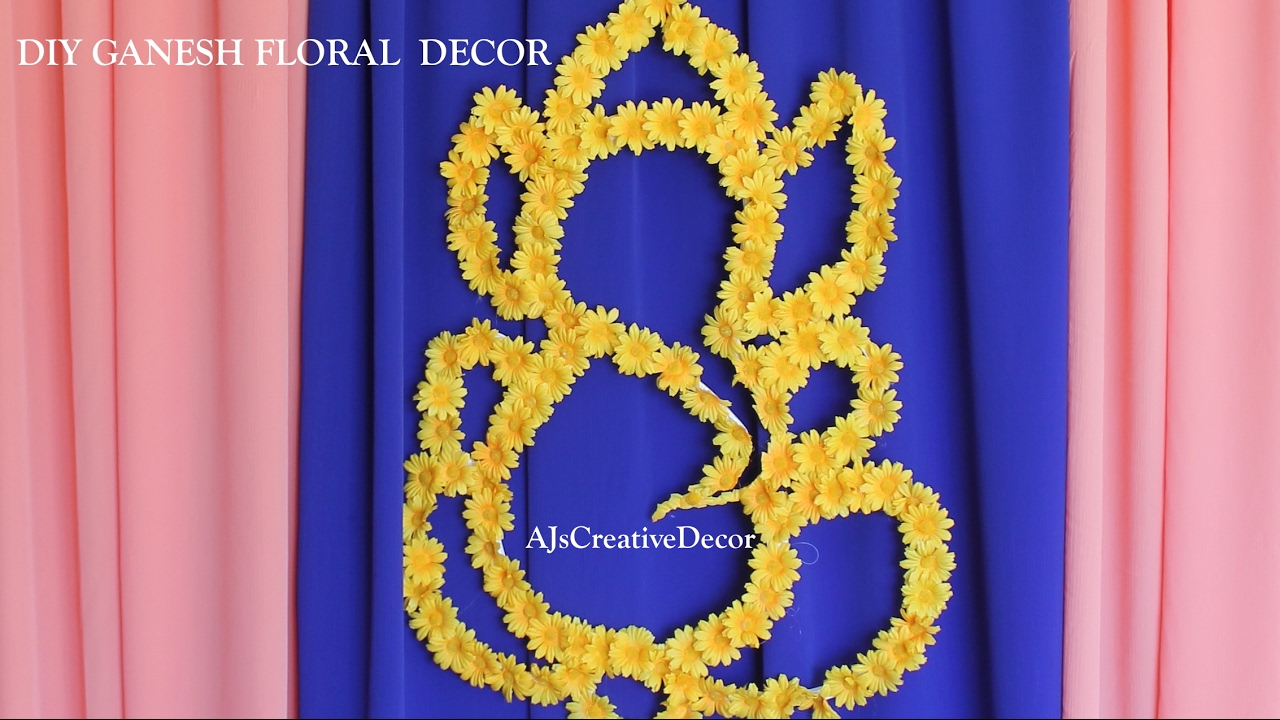 Diy Ganesh Floral Backdrop Youtube