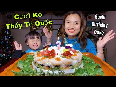 Bánh Sinh Nhật Sushi Hải Sản Lần Đầu Mẹ Làm Mừng Sinh Nhật Sa 3 Tuổi #450
