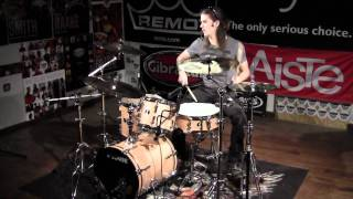 "Greenbrier -Sonor Safari Drum Solo/Demo 16"" Bass Drum -Club/Gig Kit Sabian AAX Studio Cymbals"