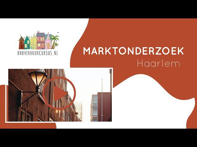 Marktonderzoek Haarlem