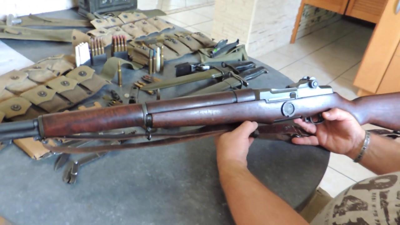 Présentation du fusil GARAND ainsi que de ses accessoires