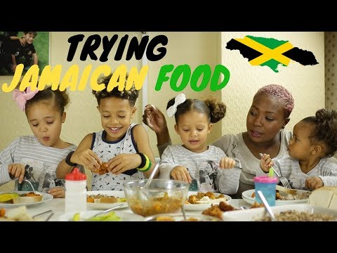 Trying Jamaican Food || Kids REACTIONS!!