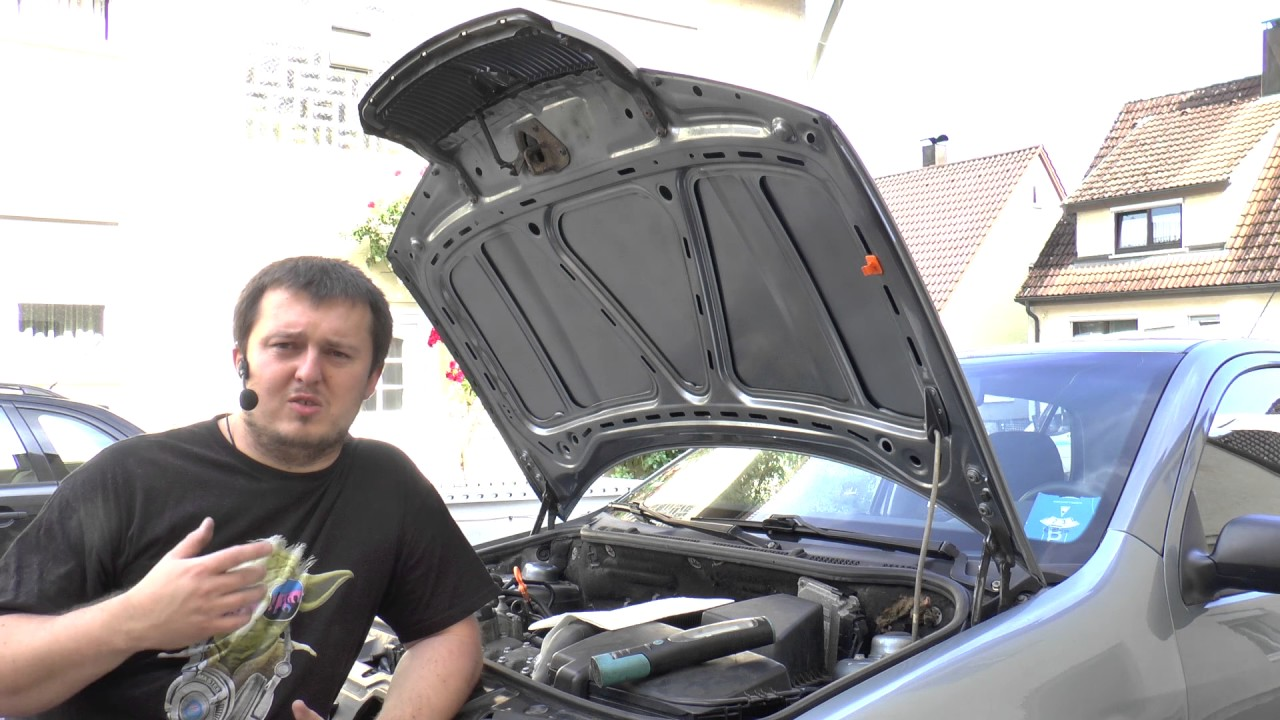 fleck unterm auto mittig