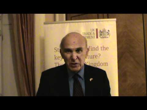 Secretary of State responsible for Business, Innovation and Skills Dr. Vince Cable's visit to Turkey