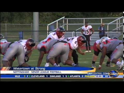 minor league football helmets syracuse strong football falls to watertown youtube