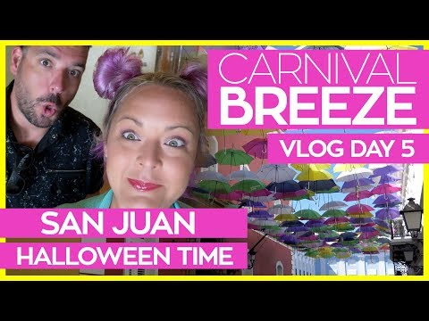 San Juan and The Carnival Frightfully Fun Halloween Party | Carnival Breeze Cruise Vlog Day 05