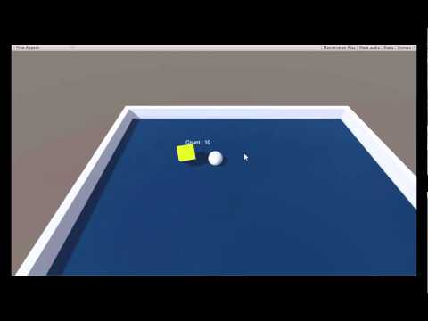how to make roll a ball game in unity