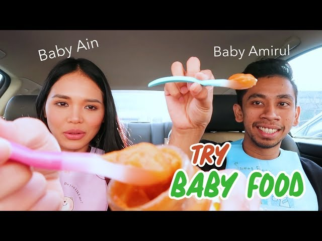 Baby Ain & Baby Amirul Try Baby Food