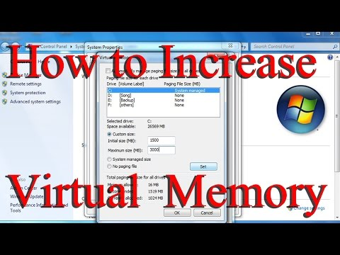 How To Increase Virtual Memory In Windows