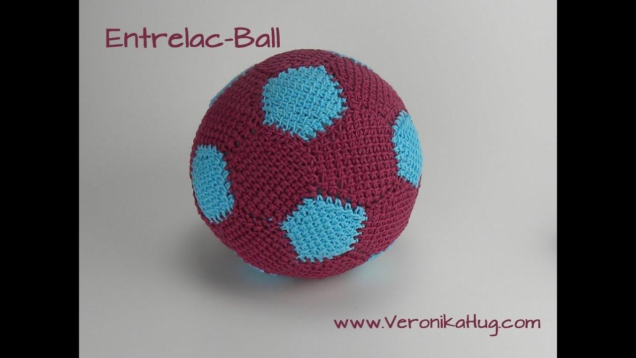 Häkeln - Entrelac - Ball - Fußball - Teil 3 - Veronika Hug - YouTube