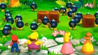 Mario Party: The Top 100 - Mario vs Wario vs Peach vs Daisy| Cartoons Mee