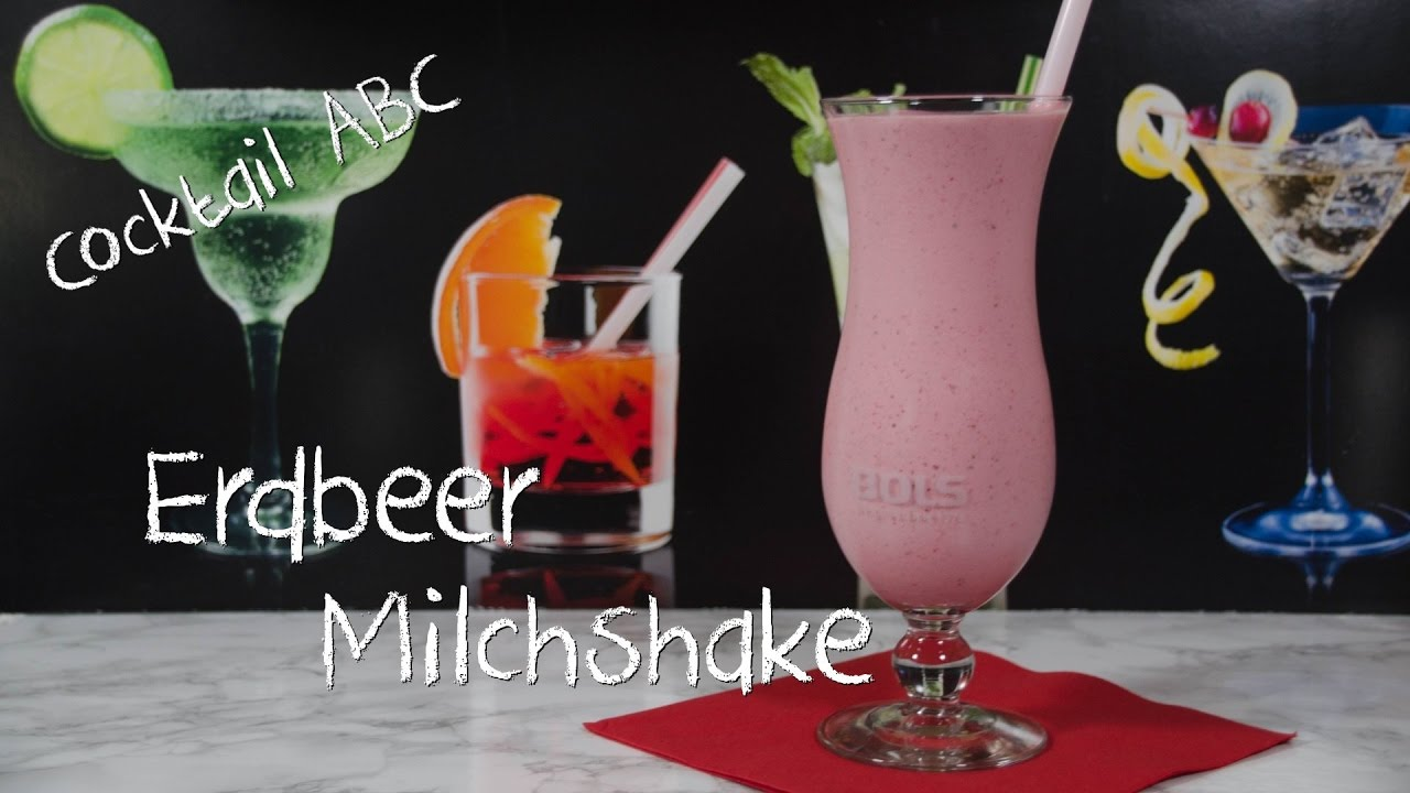 erdbeer milchshake der beste milchshake der welt cocktail abc e ohne alkohol youtube. Black Bedroom Furniture Sets. Home Design Ideas