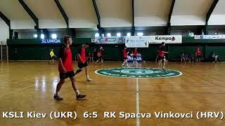 Handball. U17 boys. Sarius cup 2017. RK Spacva Vinkovci (HRV) - KSLI Kiev (UKR) - 8:7 (1st half)