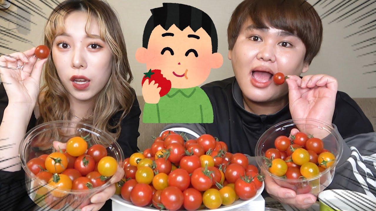たまにはヘルシーにプチトマト100個大食いしてみたwww