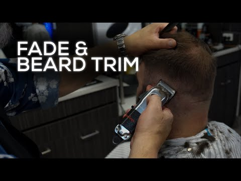 Barber Cleans up Client with Classic Fade & Beard Trim | New York Barbers