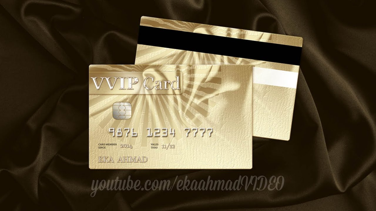 Create Golden Business Card with Photoshop - YouTube