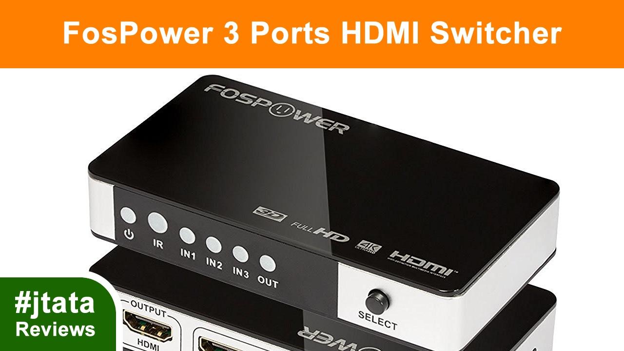 fospower hdmi  HDMI Switch, 3 Ports 3x1 HDMI Switcher from FosPower - YouTube