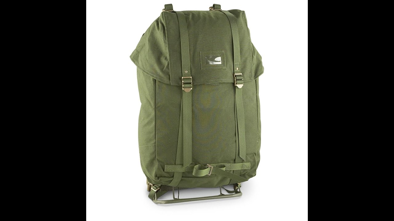 military surplus score swedish military 35l rucksack with steel frame the outdoor gear review youtube
