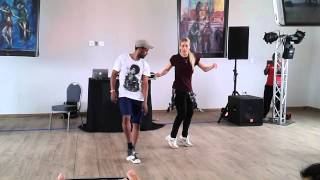 Salsa Hiphop Fusion Workshop demo in Cape Town -  Nina & Zerjon