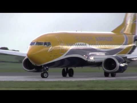 Air Contractors Boeing 737-31S EI-STA Take Off Cork (HD)