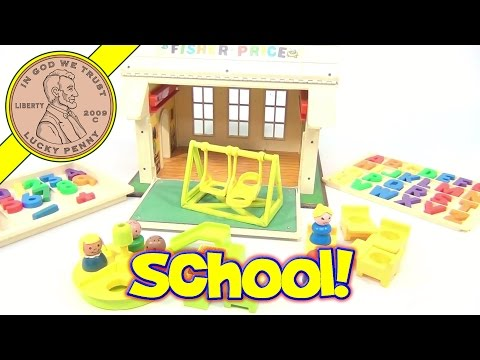 Fisher-Price Vintage Play Family School House Playset #923 From 1971