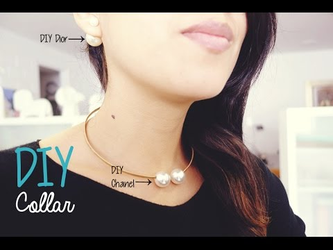 DIY pearl necklace / DIY collar de perlas inspiración Chanel