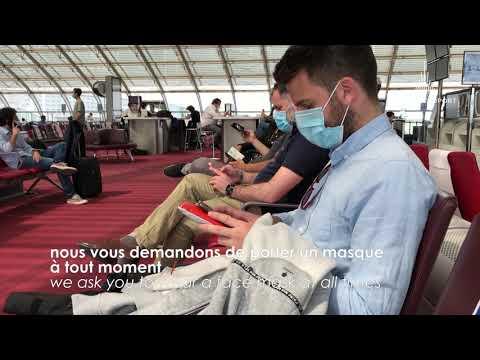 Covid-19 : Paris Aéroport sécurise votre départ de Paris / Your safe departure from Paris.