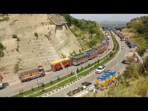 Only light vehicles allowed to move on Jammu- Srinagar National Highway. Tap to watch a glimpse.