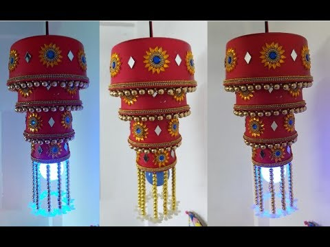 226. Diwali Decoration Idea | Diwali Lantern | Best  Out Of Waste | DIY Chandelier