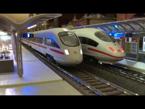 HO station diorama DB ② – ICE, high speed trains