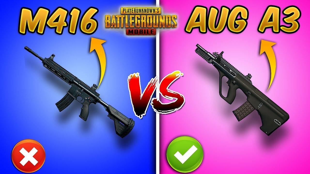 M416 vs AUG A3 Ultimate Weapon Comparison (PUBG MOBILE) Guide/Tutorial