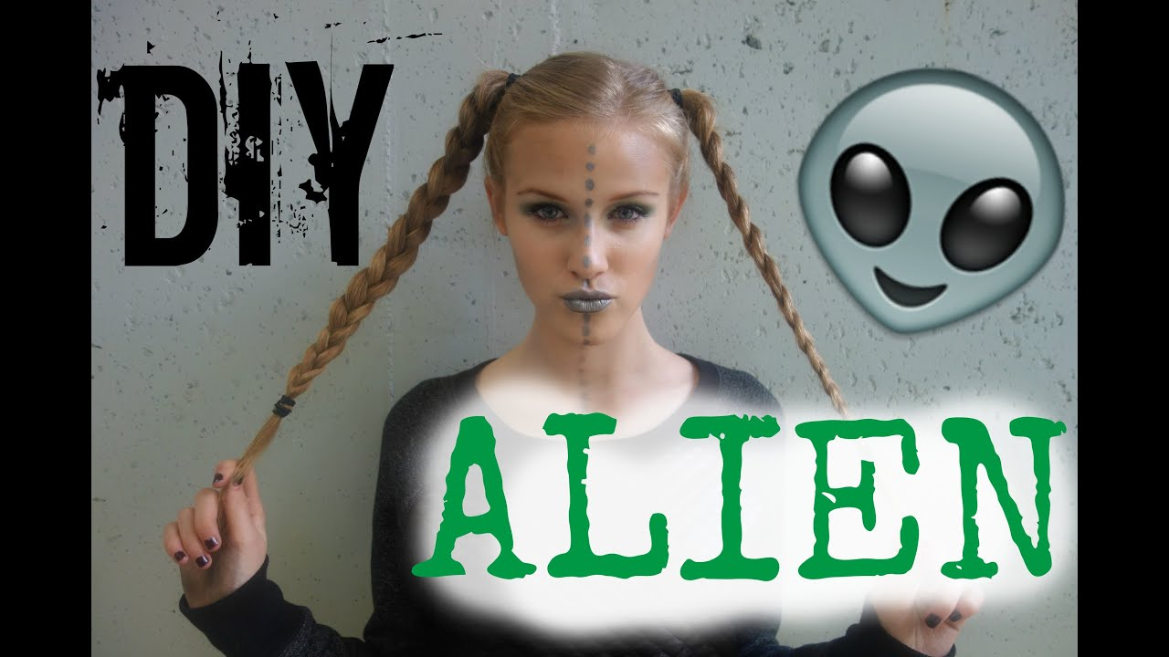 sc 1 st  YouTube & DIY Alien Costume: Hair Makeup u0026 Outfit! - YouTube