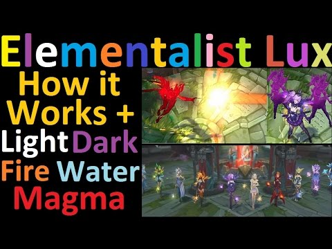 Elementalist Lux - How it Works + Light, Dark, Water, Fire, and Magma