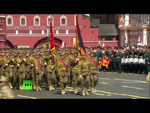 Армянские солдаты на Красной Площади в Москве / Armenian Soldiers On Red Square In Moscow