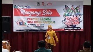 """Udah Berhijab, Suaranya MANTAPP!!  Lagu daerah Jawa Tengah """"Walang Kekek""""  FLS2N SD"""