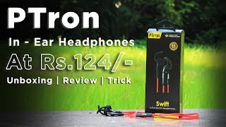 (₹124) Ptron Swift In-Ear Sports Headphones | Unboxing | Review | Trick | Dekh Review (Hindi/Urdu)