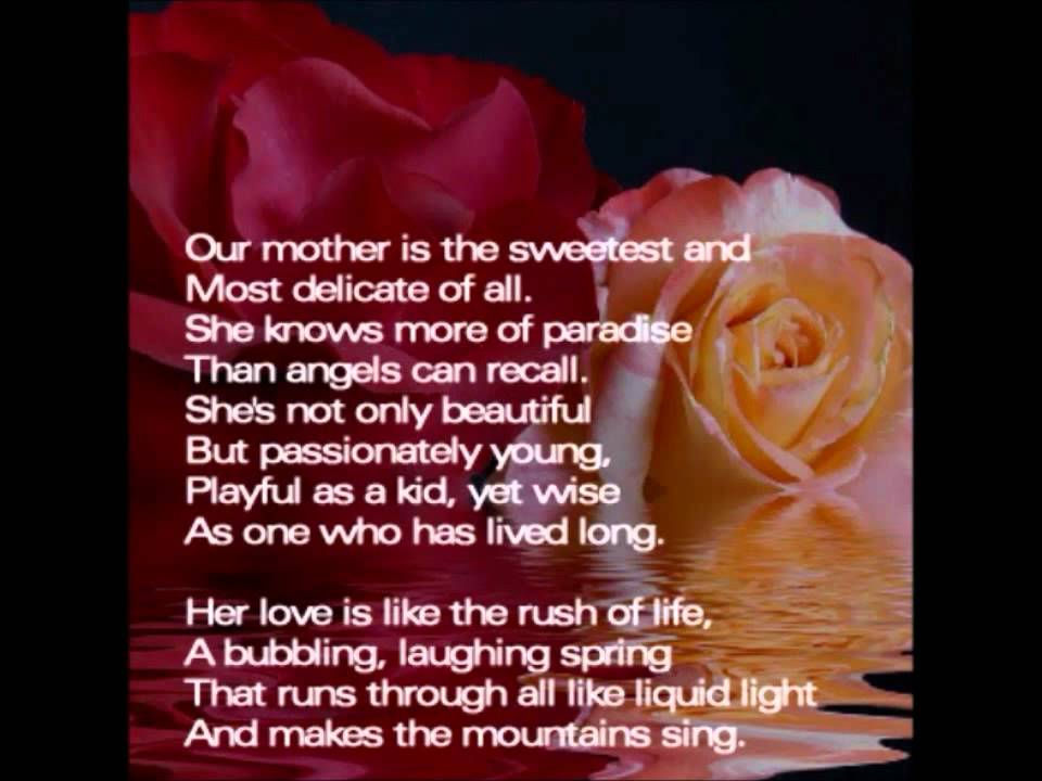 mothers day poem and prayer(happy mothers day) Joanna Fuchs poems ...