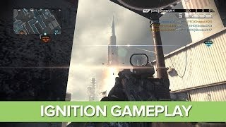 CoD Ghosts Ignition Gameplay - Rocket Launch and Crash, Onslaught DLC