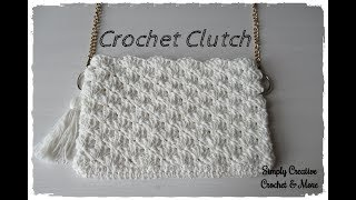 Crochet Shell Stitch Clutch Bag