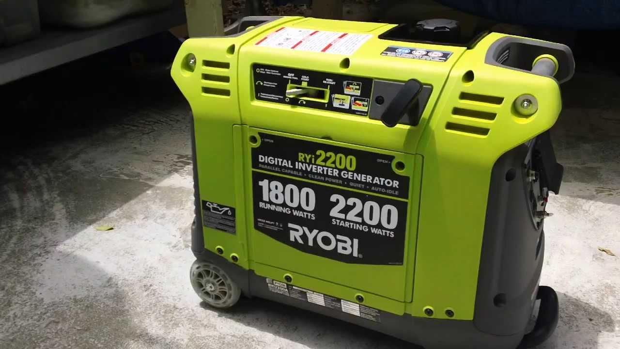 Ryobi Ryi2200 Inverter Generator Quick Start And Review
